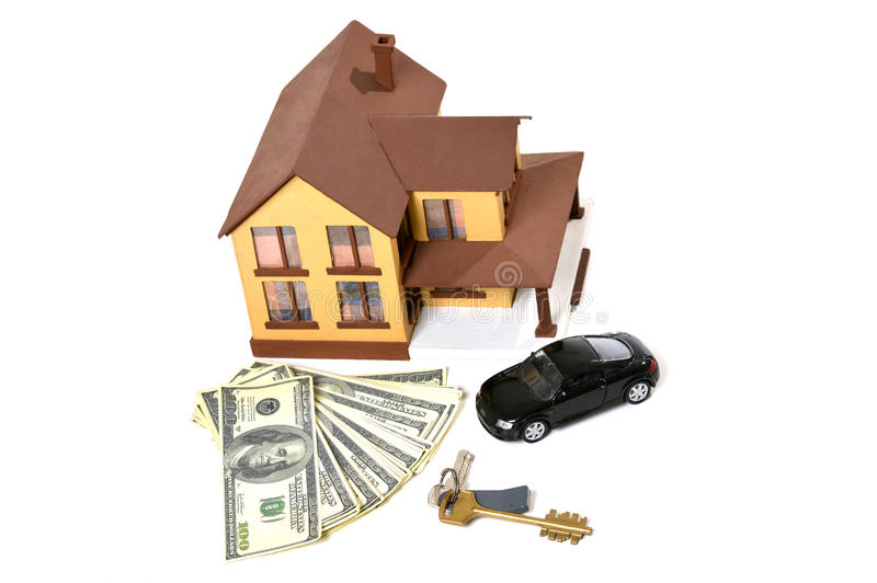 house-car-keys-real-estate-concept-miniature-dollars-white-background-39393797