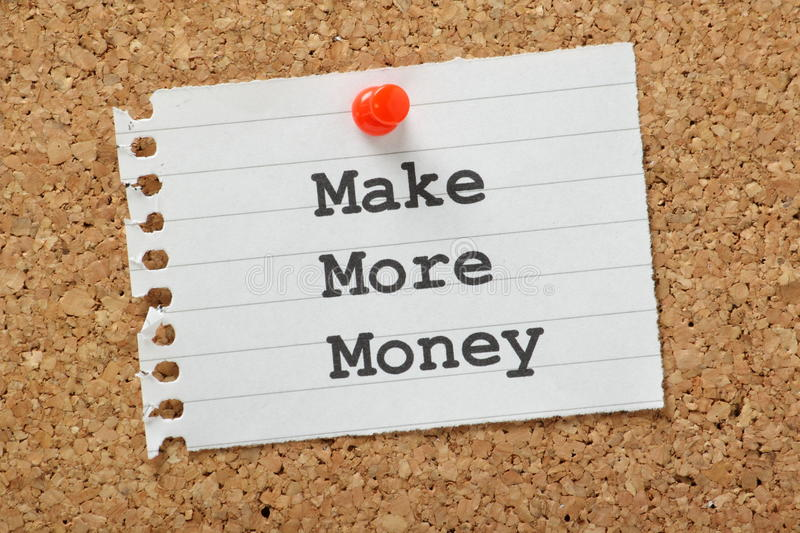 make-more-money-phrase-typed-piece-note-paper-pinned-to-cork-notice-board-35306023